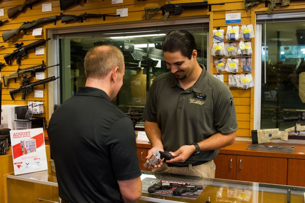 A helpful and knowledgeable sales staff is key to helping customers find the right fun for self-defense. That gun is often a revolver.