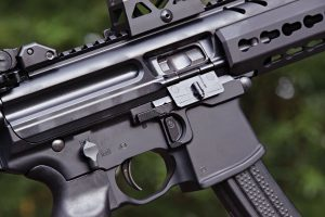 The controls on the SIG MPX are similar to those of an AR-15, but are fully ambidextrous — even the bolt release!