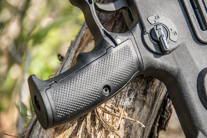 Now shooters who want to run a Tavor don't have to utilize the oversized whole hand guard if they don't want to – the new X95 is available with either a smaller trigger guard, or the full-sized one from the original Tavor.