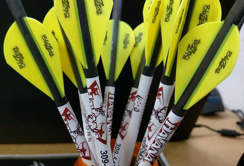 hand-fletched arrows