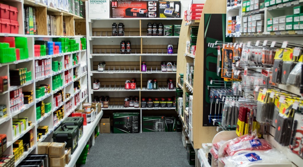 This retailer uses natural dead ends in the store layout. Reloading gear is a perfect product for nooks and crannies shoppers.