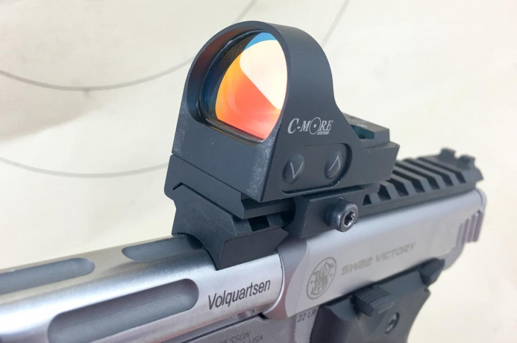 The Victory includes a rail to mount optics. Note the notch in the rear - the rail works with the front sight also.