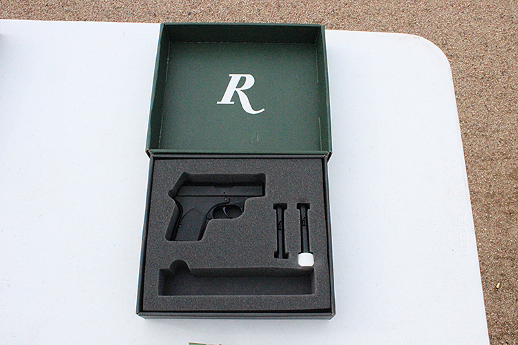 The RM380 comes with two six-round magazines and has an MSRP of $417.